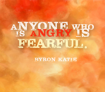 Anyone who is angry is fearful